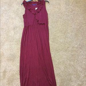 Purple maxi dress never worn